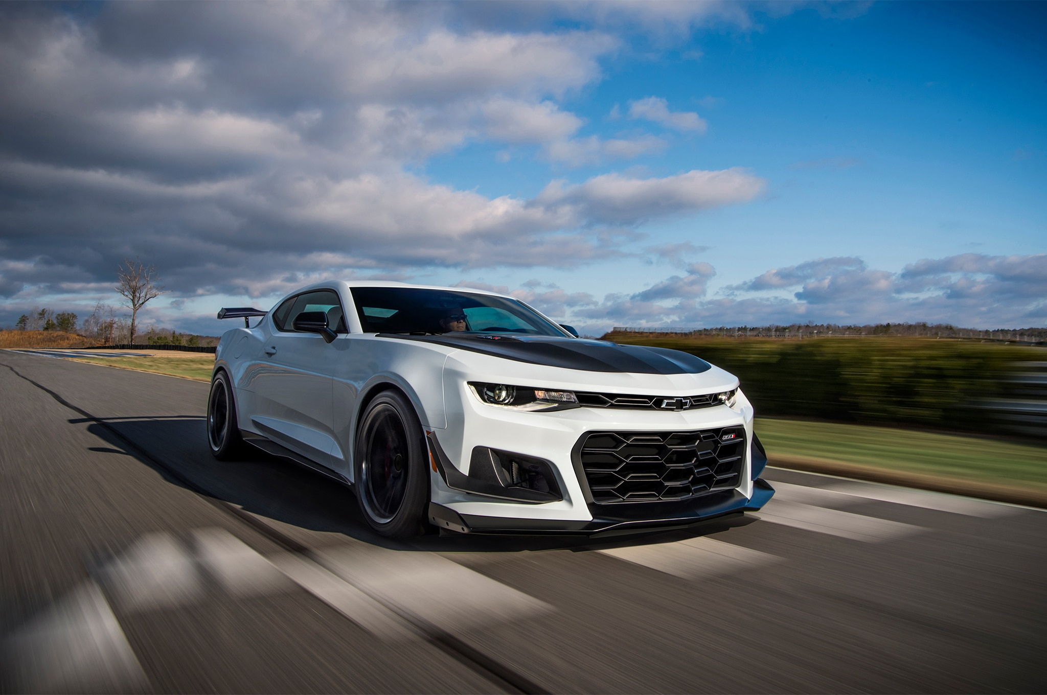 2018 Chevrolet Camaro ZL1 1LE Front Three Quarter In Motion 03 1