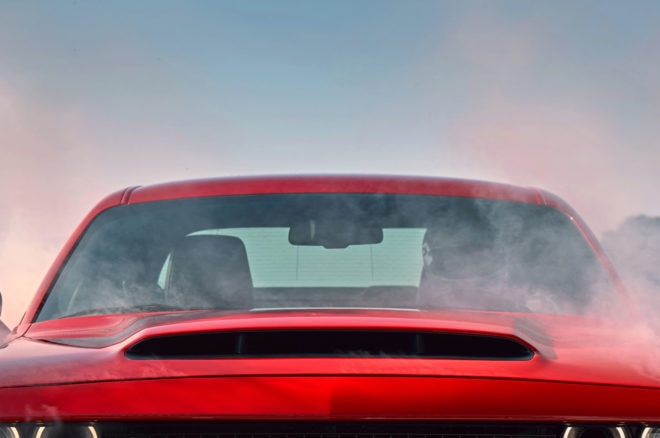 2018 Dodge Challenger SRT Demon Teaser #5 Shows Off Hood Scoop, Supercharger