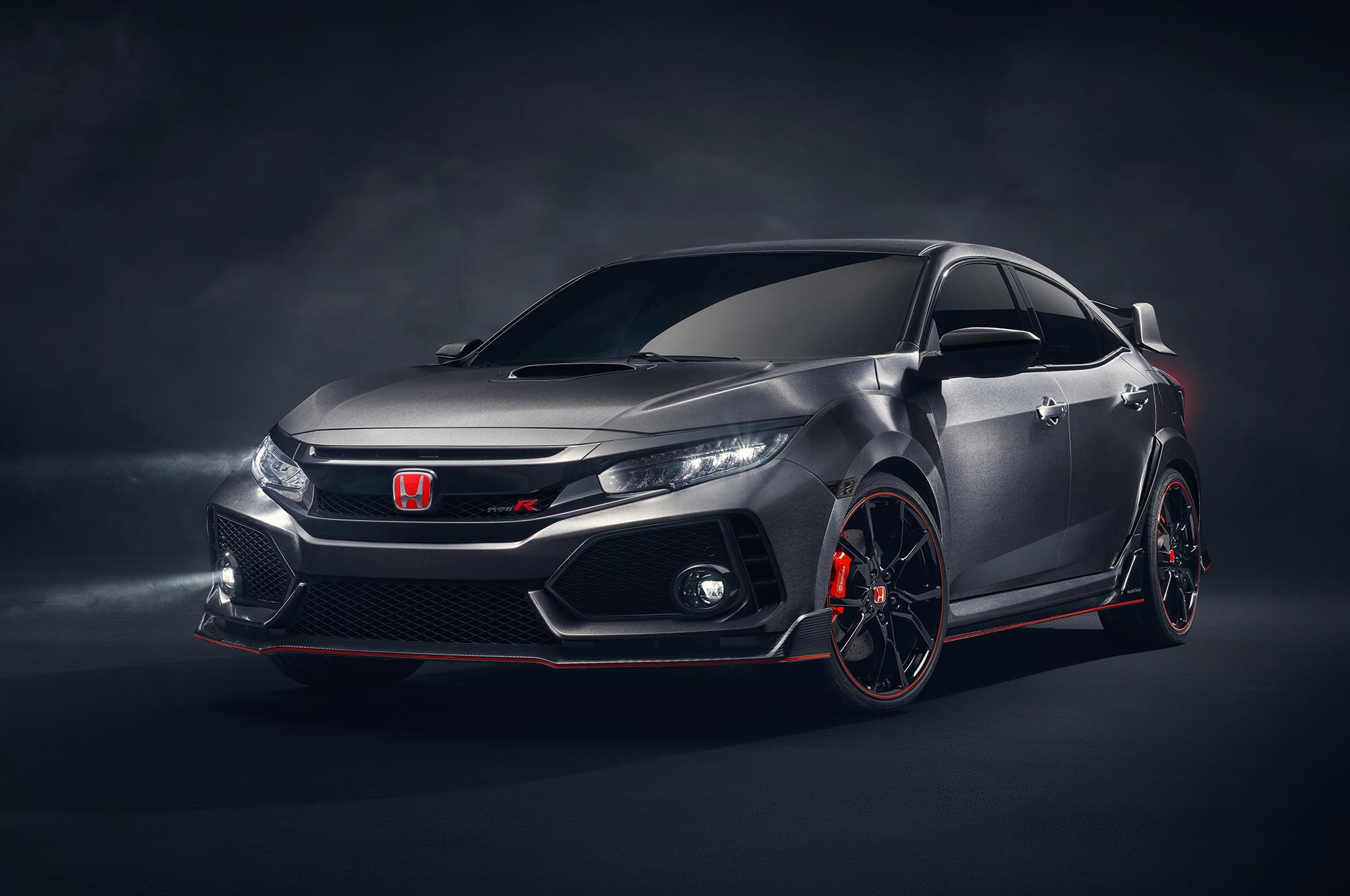2018 Honda Civic Type R Prototype Paris Front Three Quarters