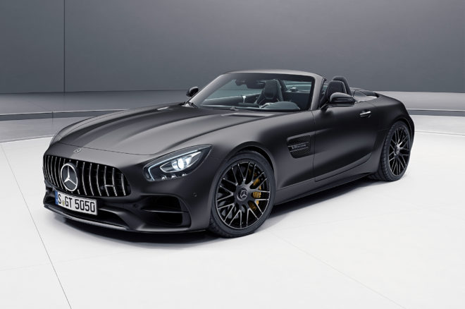 2018 Mercedes AMG GT C Roadster Edition 50 Front Three Quarter 660x438