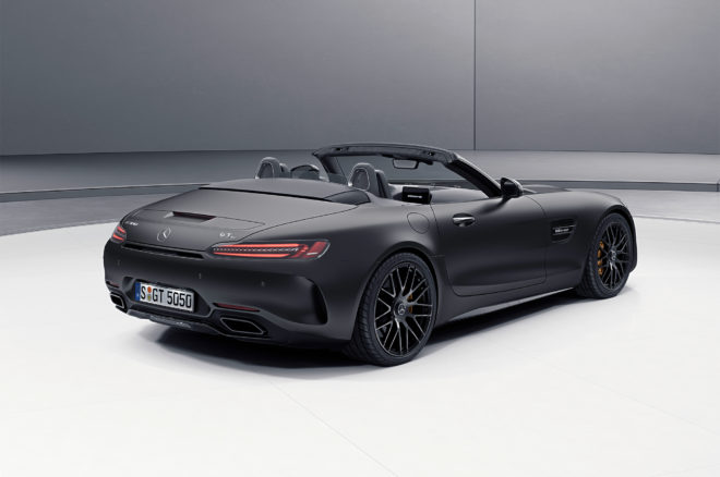 2018 Mercedes AMG GT C Roadster Edition 50 rear three quarter