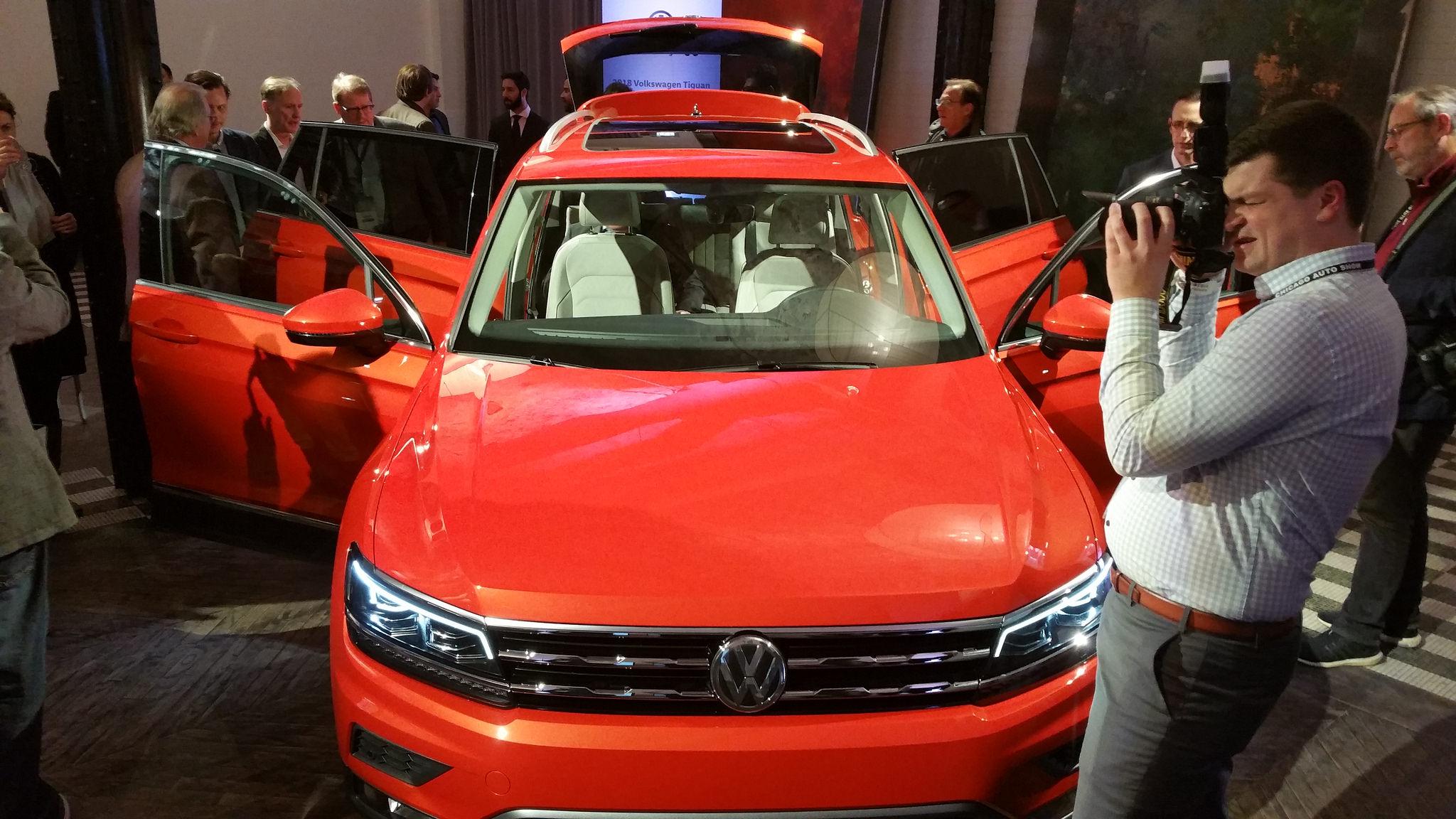2018 Volkswagen Tiguan Design Workshop Press