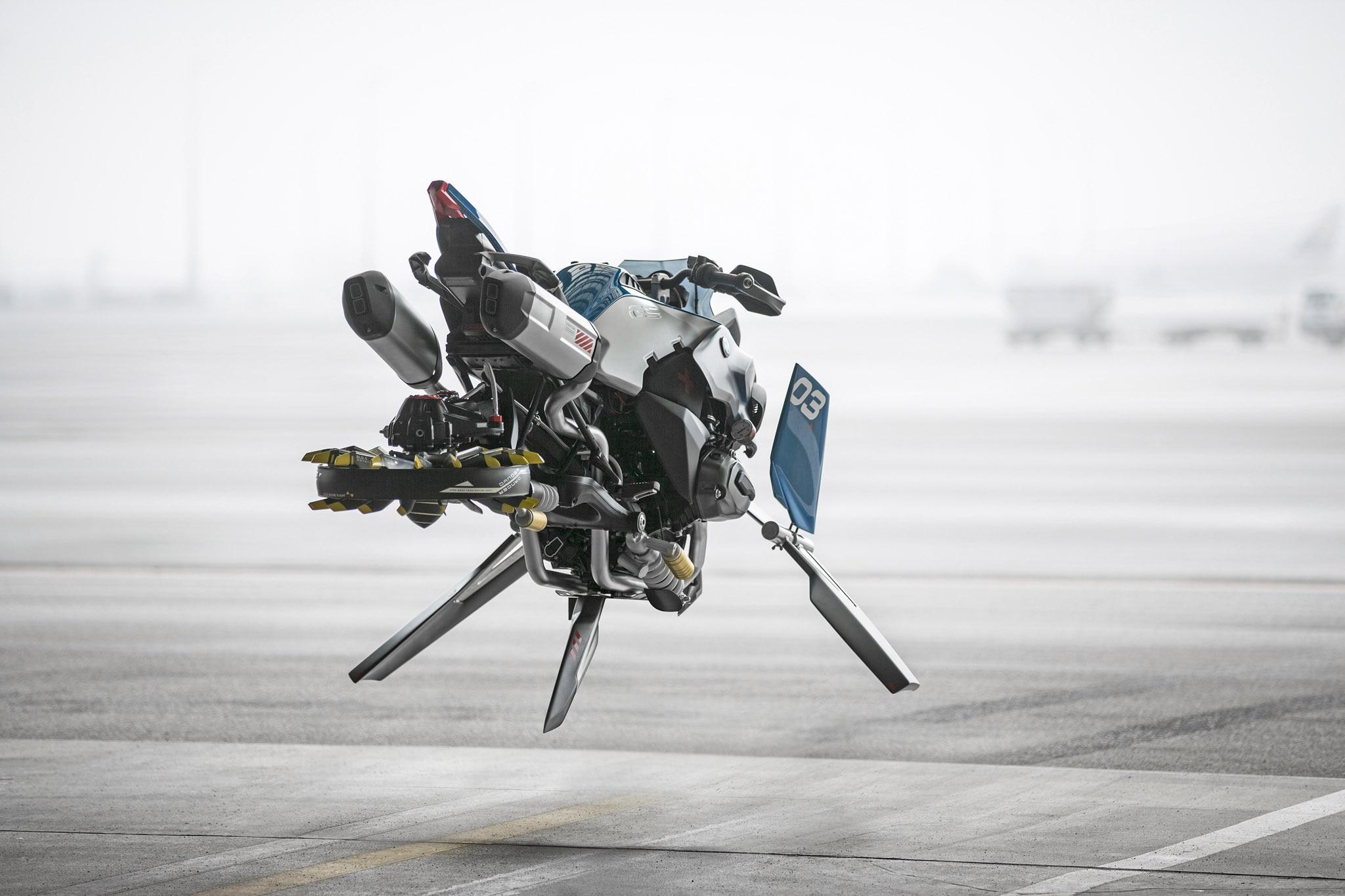BMW Motorrad And LEGO Technic Hover Ride Design Concept In Flight