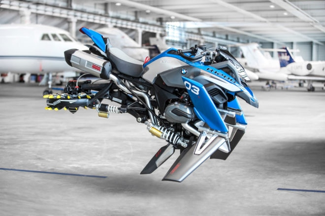 BMW Motorrad and LEGO Technic Hover Ride Design Concept Side