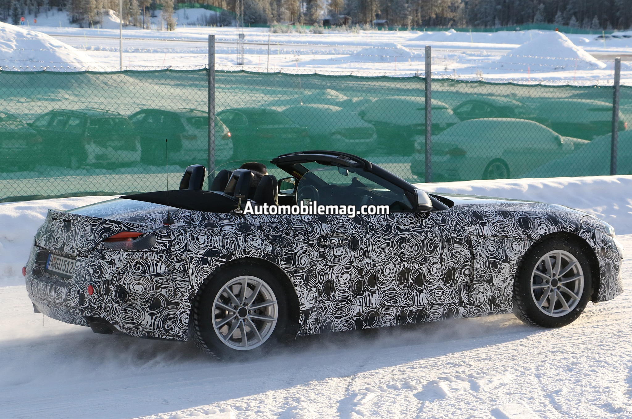 Bmw Z5 And Toyota Supra Caught Winter Testing Together
