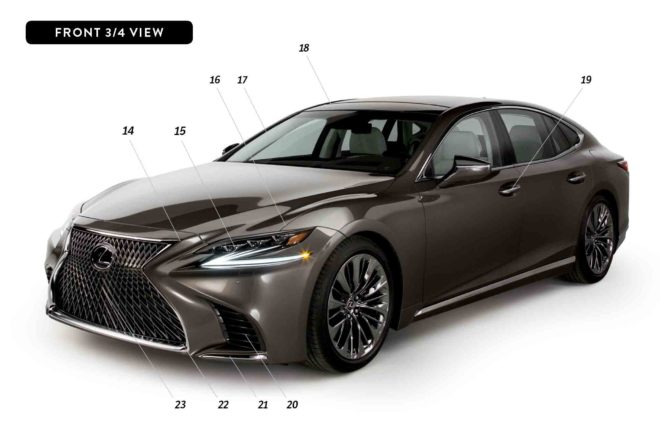 By Design 2018 Lexus LS front three quarter