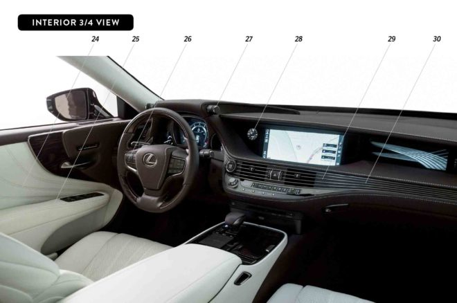 By Design 2018 Lexus LS interior