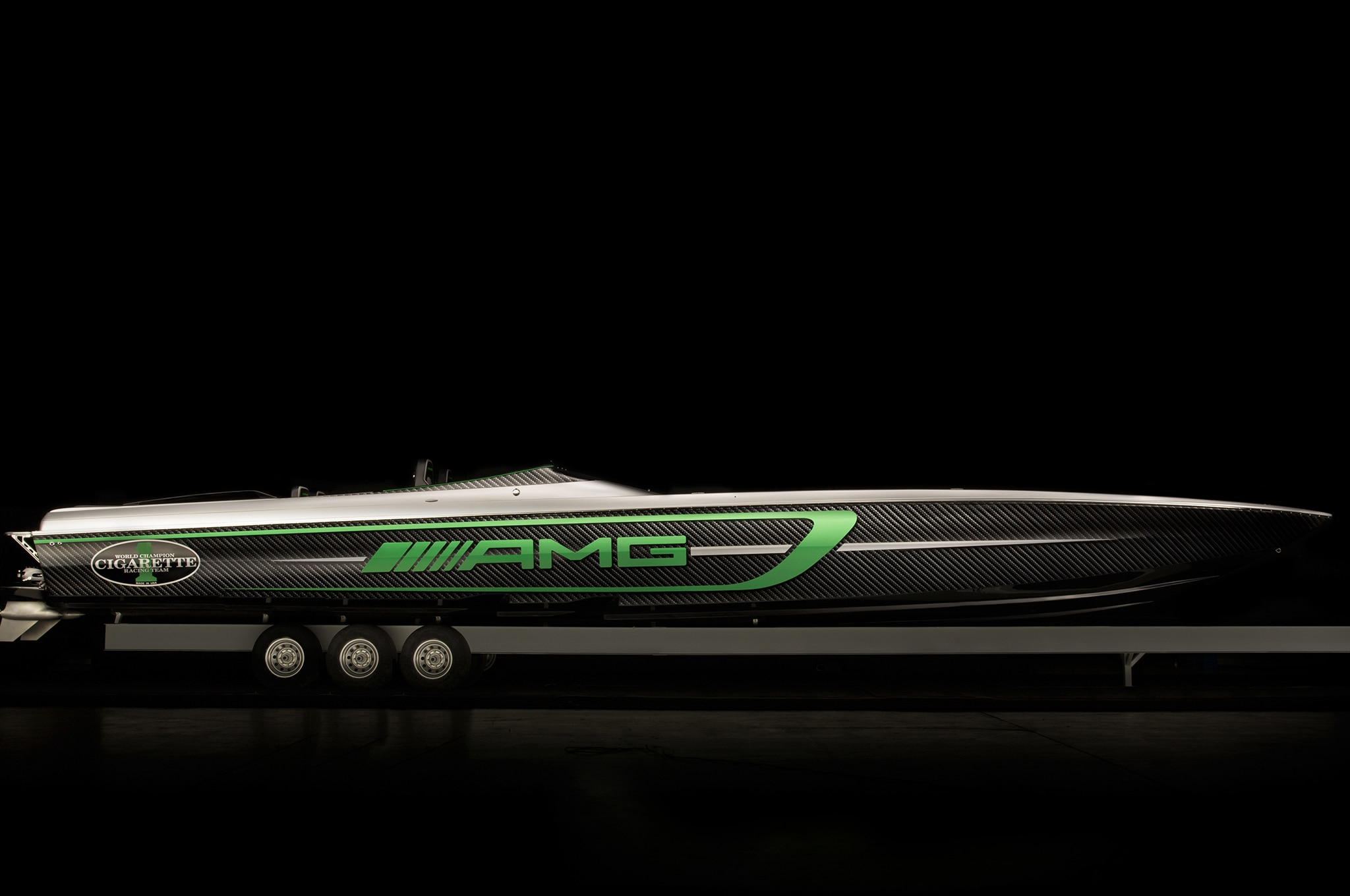 Mercedes amg and cigarette racing partnership marks 10th for Mercedes benz yacht cost