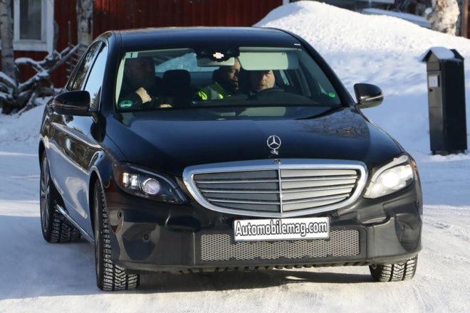 Mercedes Benz C Class Spy Shots Front 01 660x440