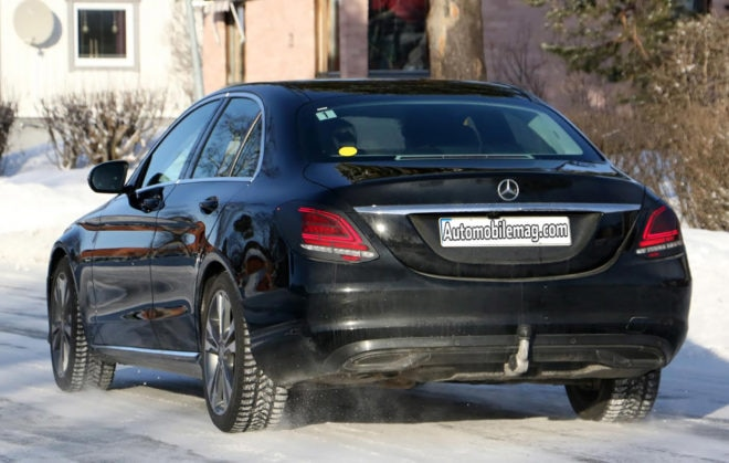 Mercedes Benz C Class Spy Shots Rear