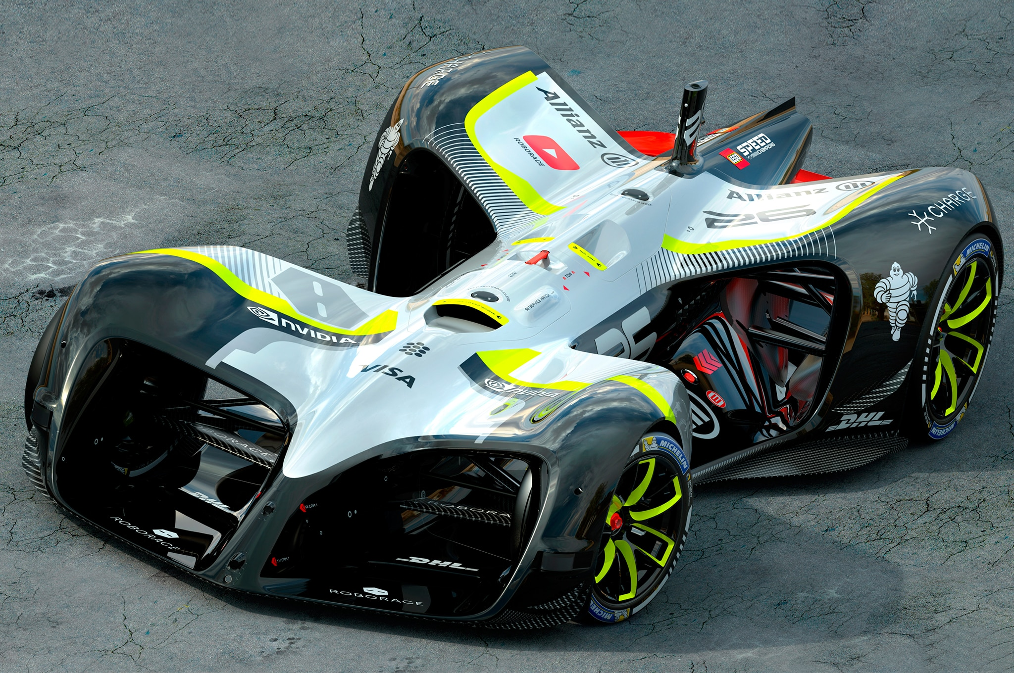 Roborace Robocar Front Three Quarters 1