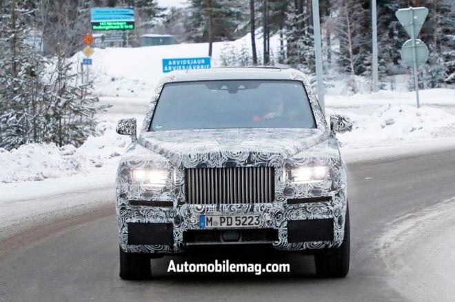Rolls Royce Cullinan Spyshots Front 2 660x438