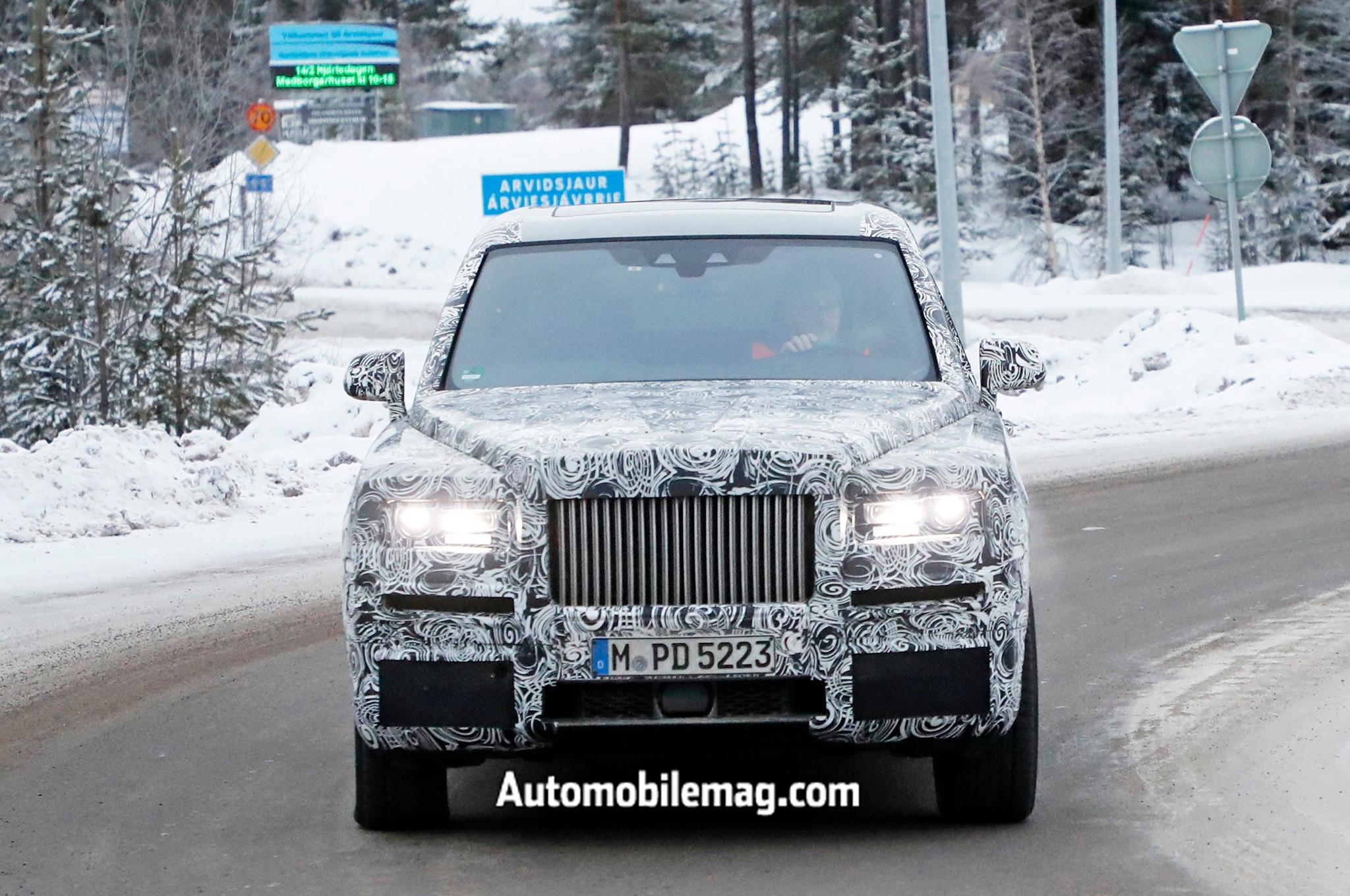Rolls Royce Cullinan Spyshots Front 2