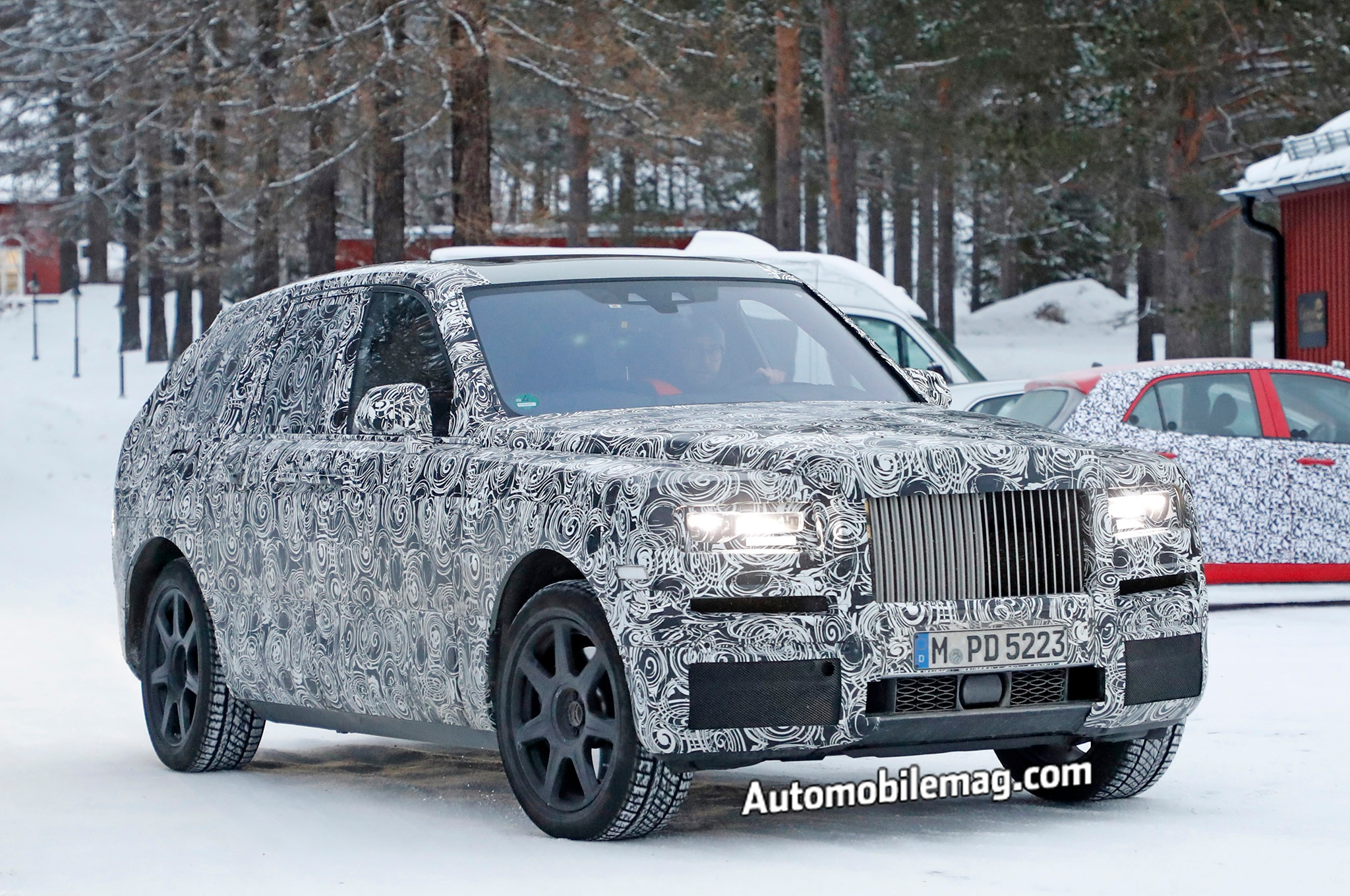 upcoming rolls royce cullinan suv spied winter testing automobile magazine. Black Bedroom Furniture Sets. Home Design Ideas