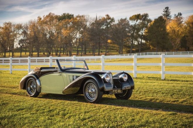 1937 Bugatti Type 57S Cabriolet RM Sothebys Front Three Quarters
