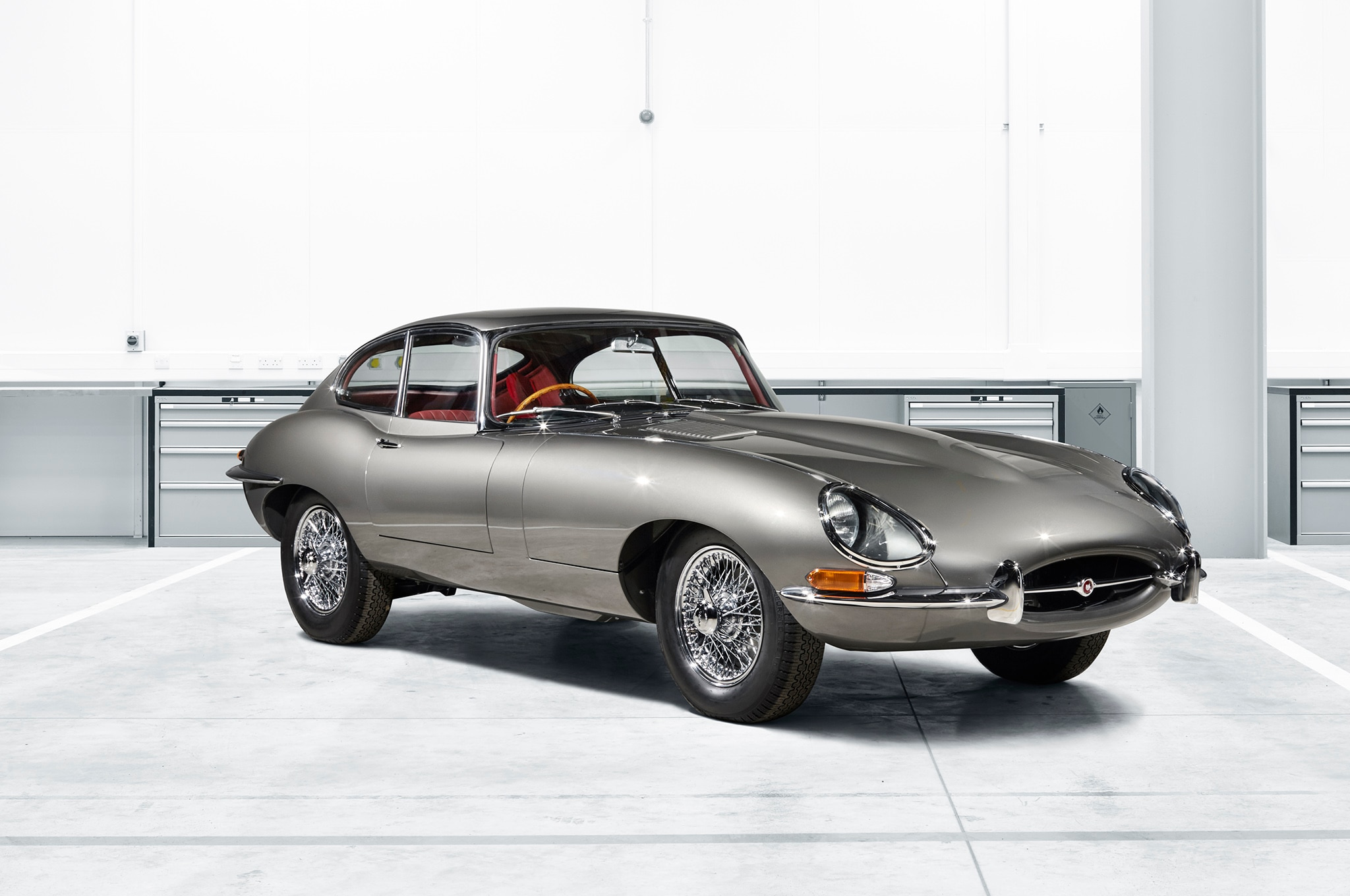 1965 Jaguar E Type Coupe Reborn Front Three Quarters