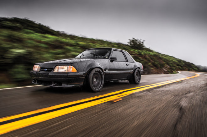 1988 Ford Mustang LX 5 0 SSP Front Three Quarter In Motion 660x438