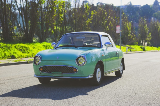 1991 Nissan Figaro Just Listed Front Three Quarters 660x438