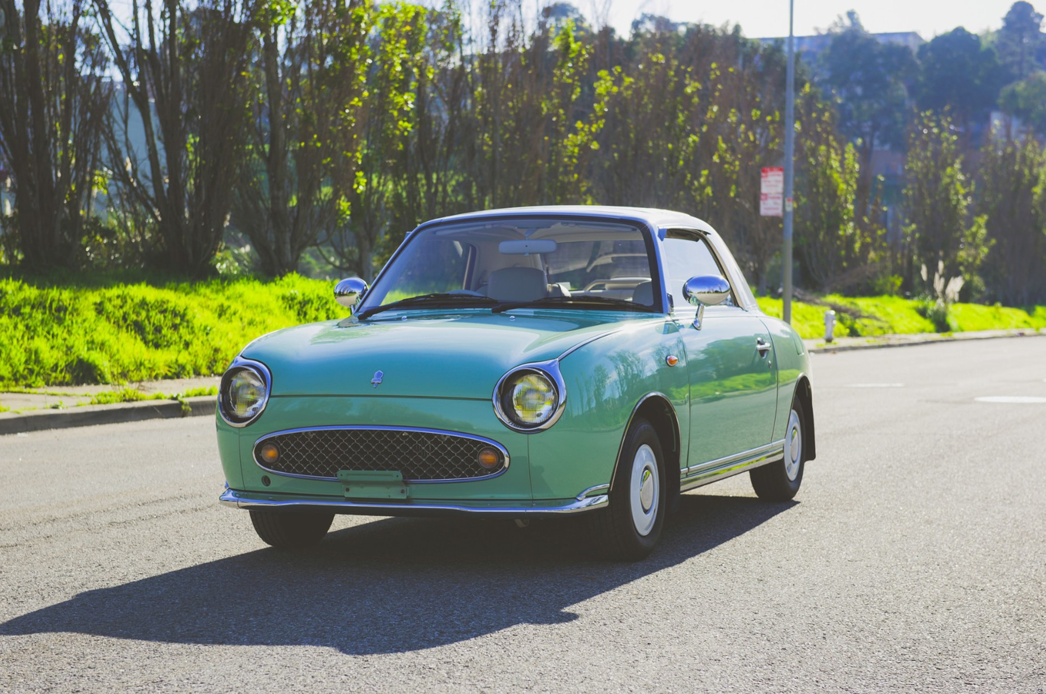 1991 Nissan Figaro Just Listed Front Three Quarters