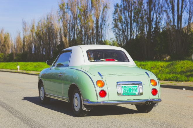 1991 Nissan Figaro Just Listed Rear Three Quarters