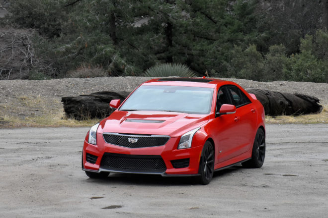 2017 Cadillac ATS V sedan front end