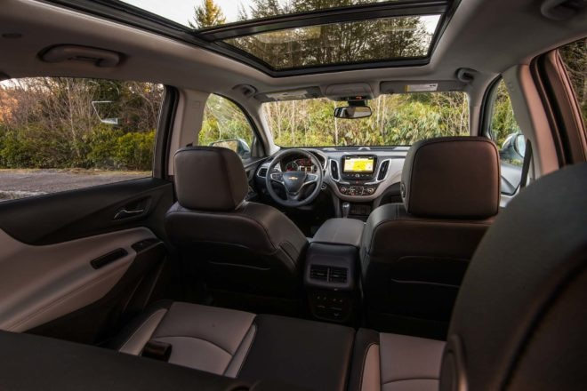 2018 Chevrolet Equinox rear interior view