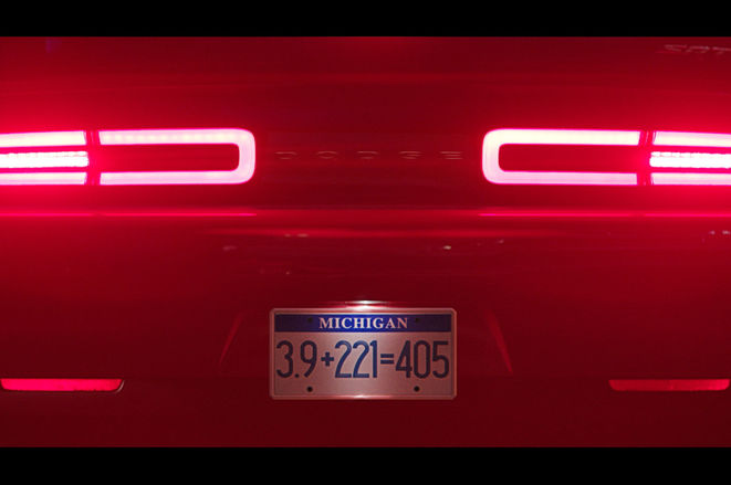 2018 Dodge Challenger SRT Demon Taillights