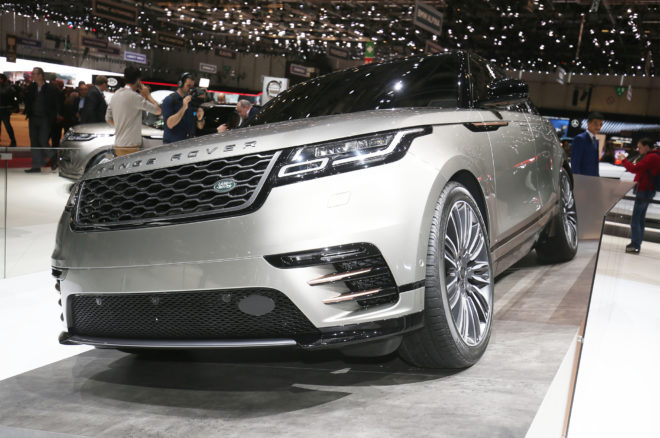 2018 Land Rover Range Rover Velar front three quarter
