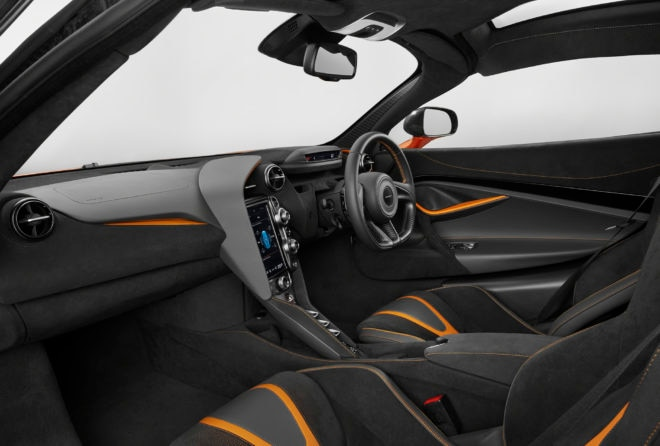 2018 McLaren 720S Interior Screen Down