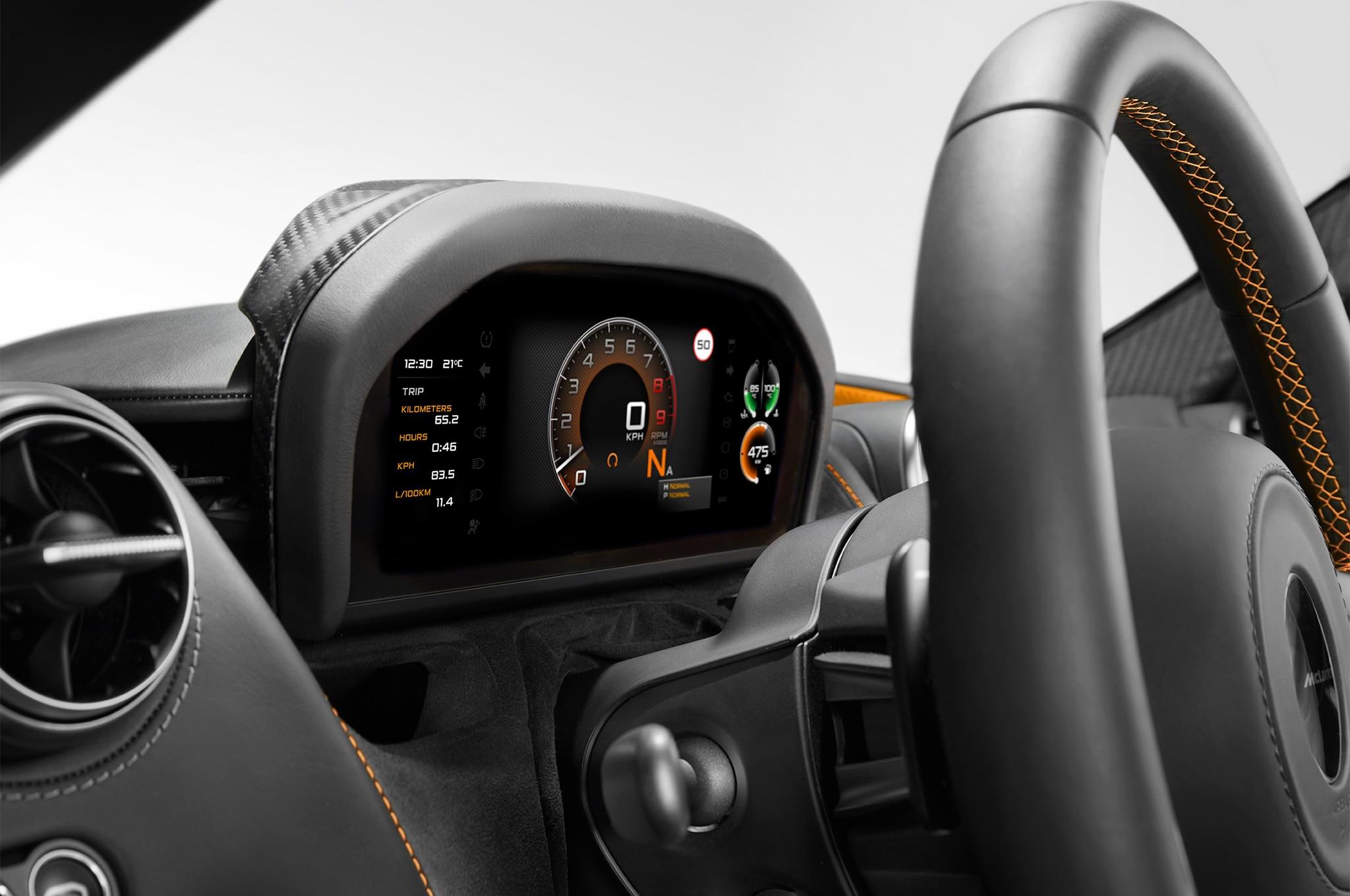 2018 McLaren 720S Folding Driver Display Cluster