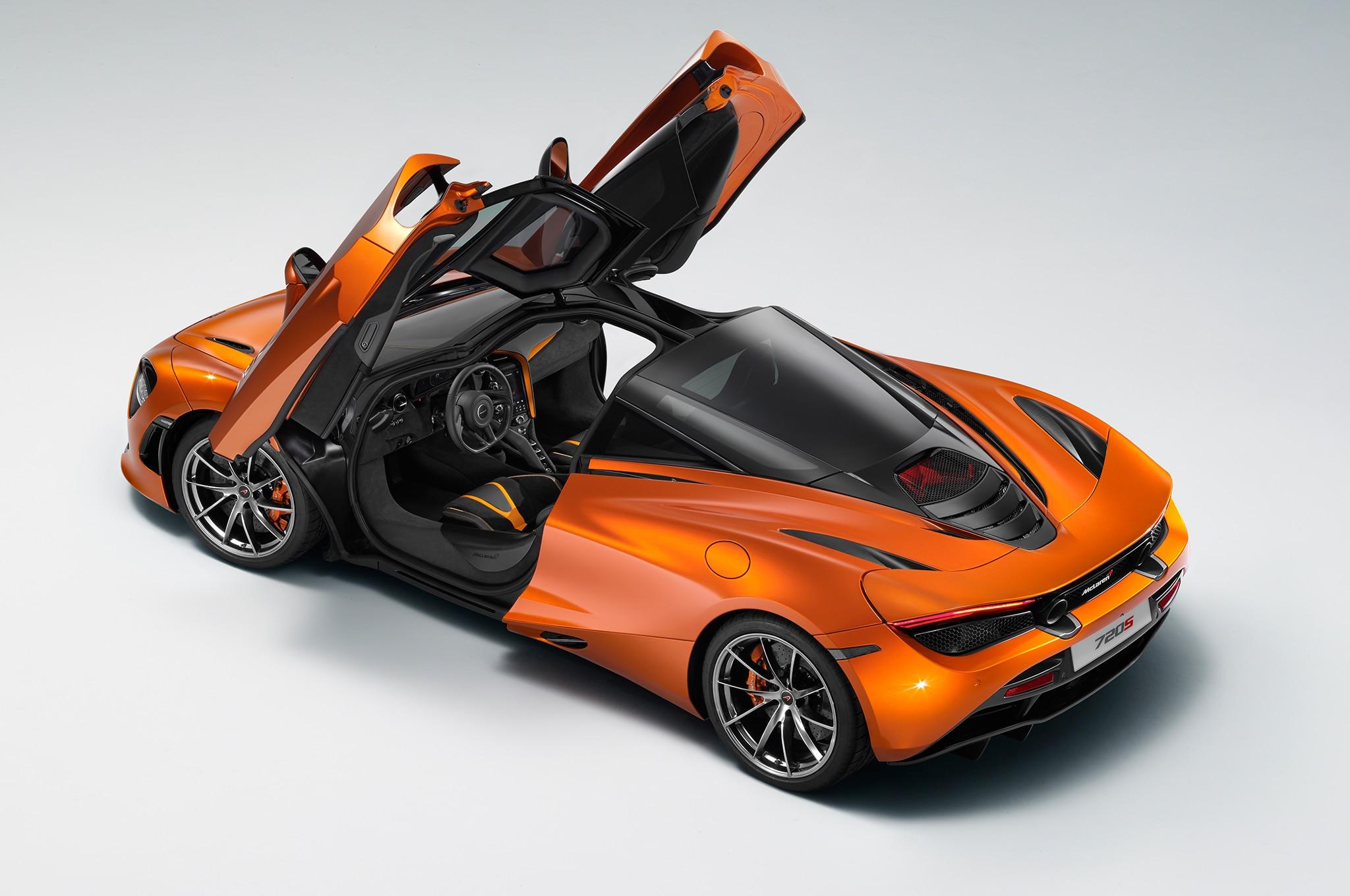 2018 McLaren 720S Rear Three Quarter Doors Up