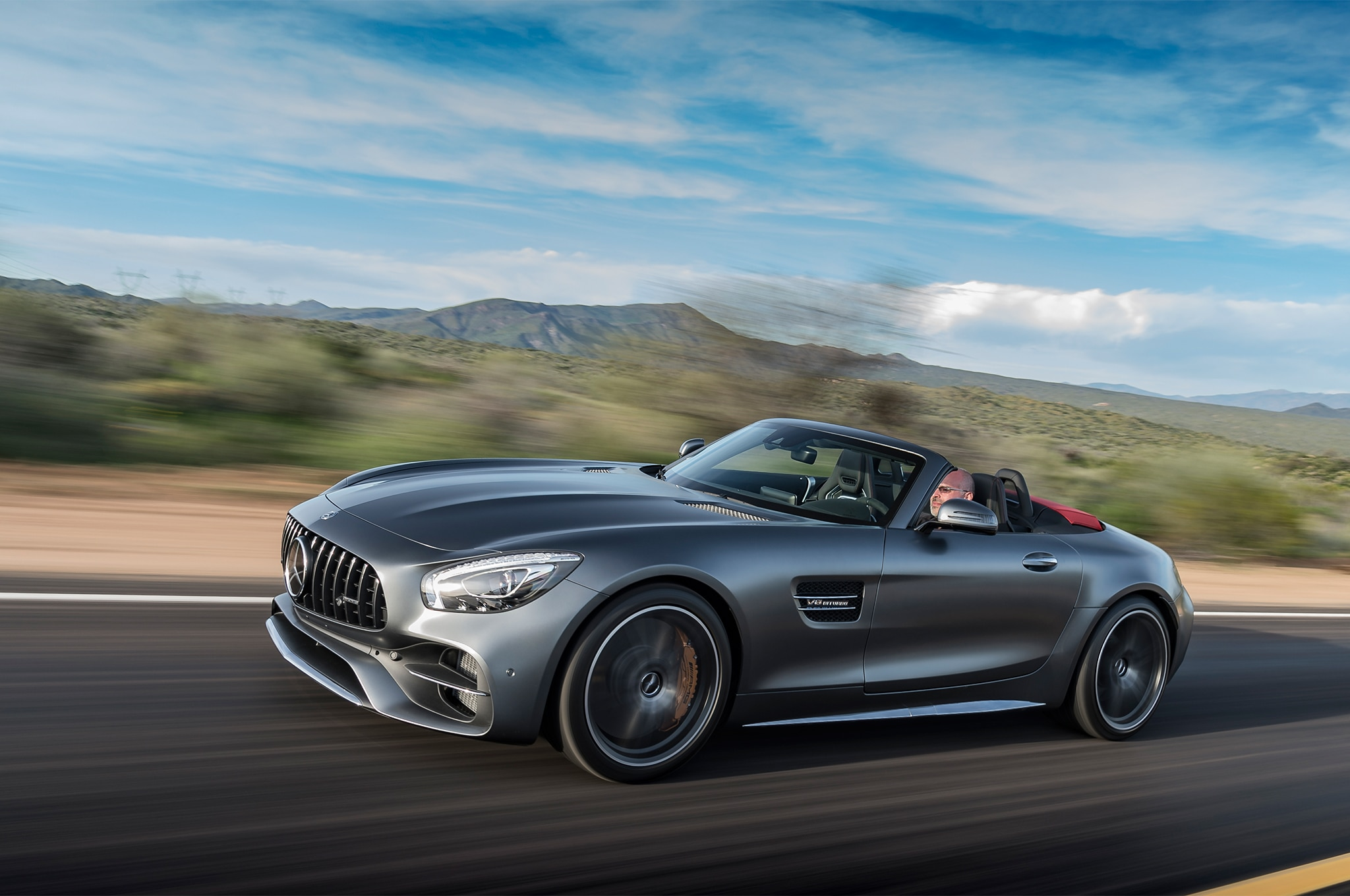 2018 mercedes amg gt and gt c roadster first drive review. Black Bedroom Furniture Sets. Home Design Ideas