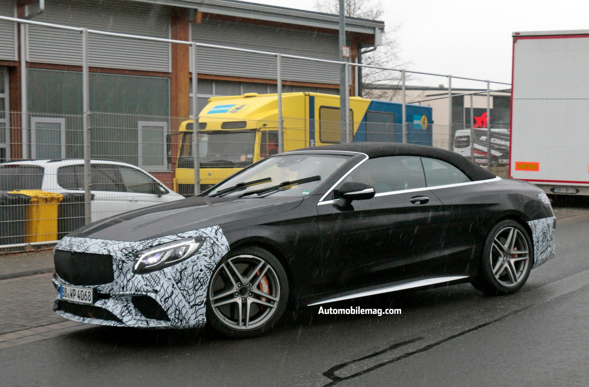 mildly revised mercedes amg s63 s cabriolet spied during testing automobile magazine. Black Bedroom Furniture Sets. Home Design Ideas