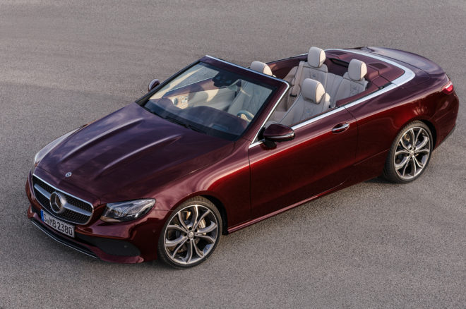 2018 Mercedes Benz E Class Cabriolet Front Three Quarter 12 660x438