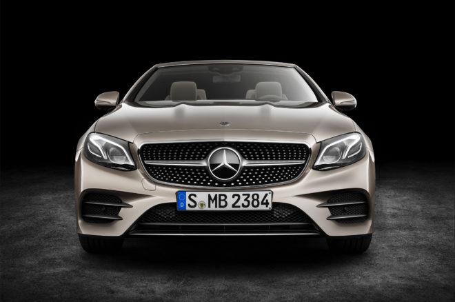 2018 Mercedes Benz E Class Cabriolet front view 01