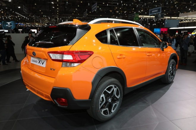 2018 Subaru Crosstrek Euro Spec rear three quarters