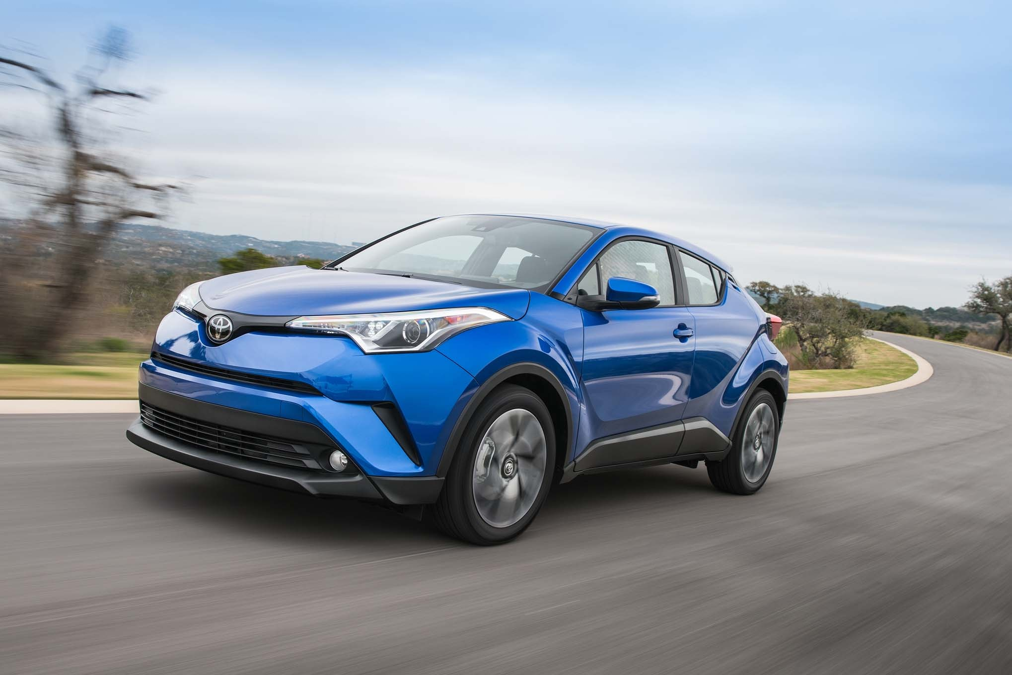 2018 Toyota C HR Front Three Quarter In Motion 1 2
