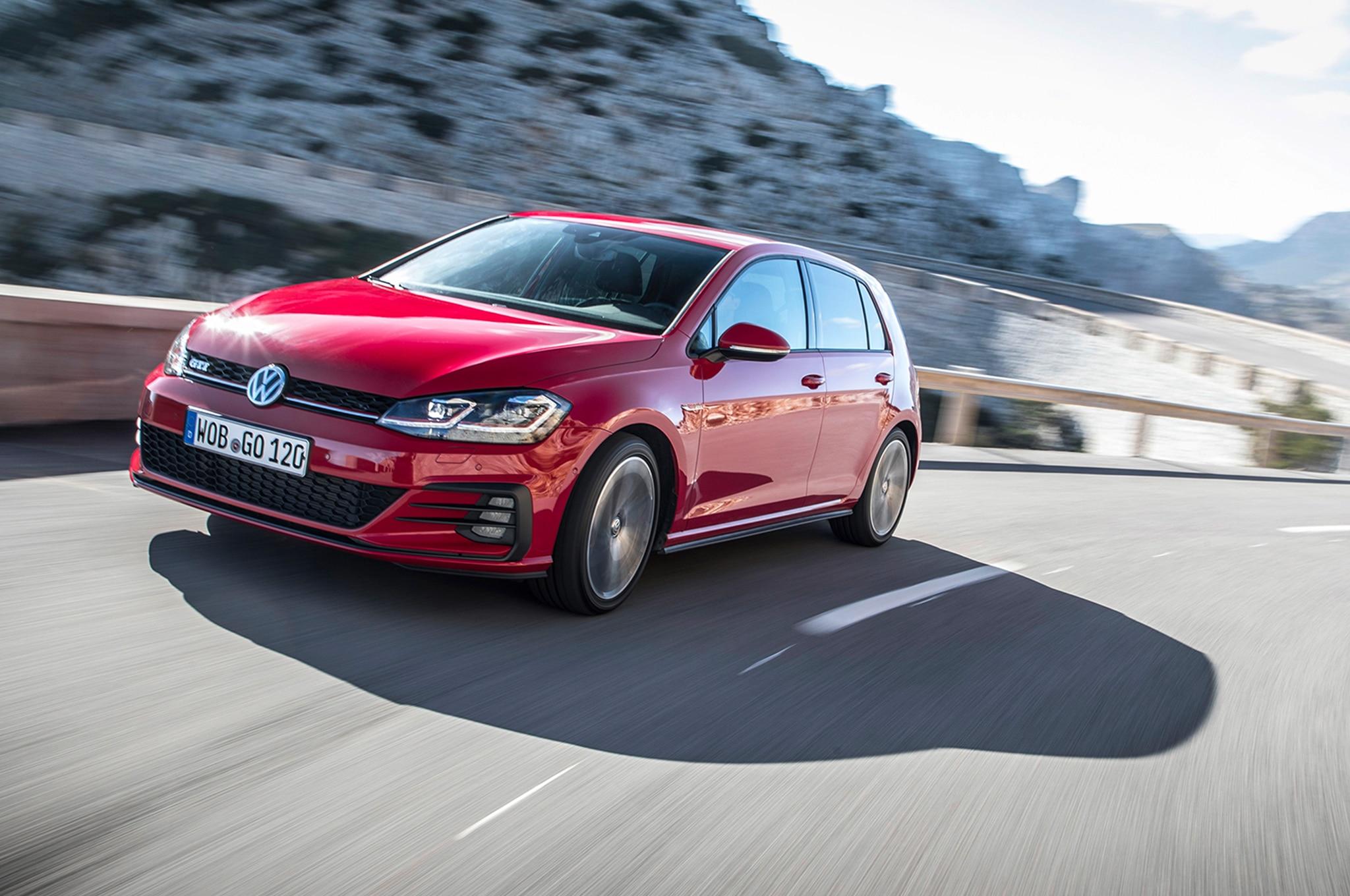 2018 Volkswagen Golf GTI European Spec Front Three Quarter In Motion 10