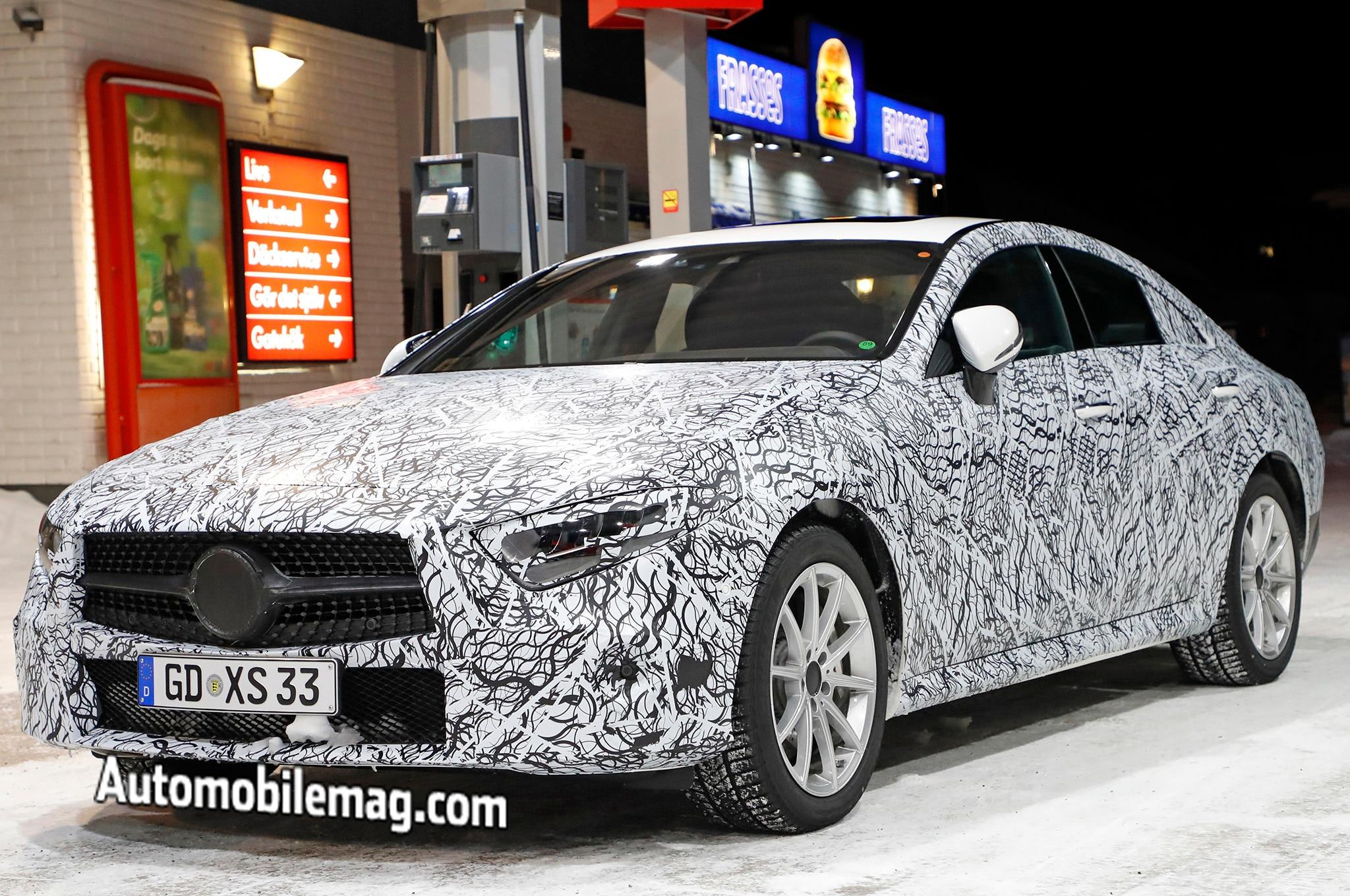 2019 Mercedes Benz CLS Spyshots Front Three Quarters