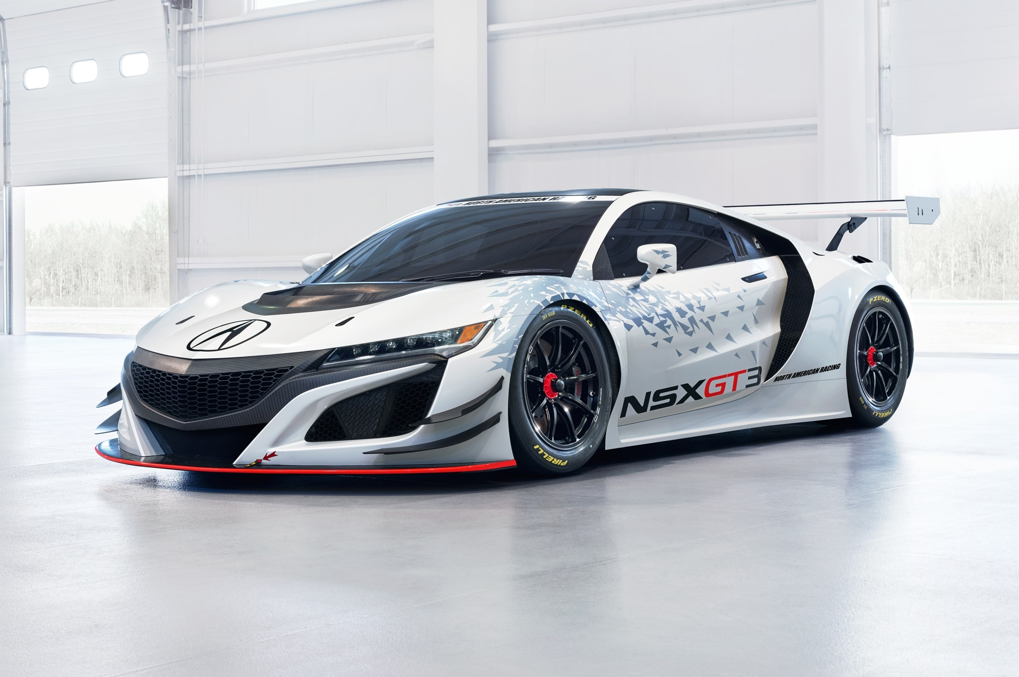 Acura NSX GT3 Race Car Front Side View