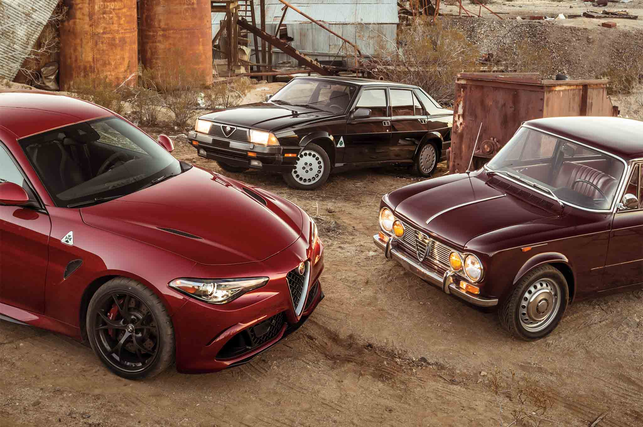 the 2017 alfa romeo giulia meets its predecessors in the wild west automobile magazine. Black Bedroom Furniture Sets. Home Design Ideas