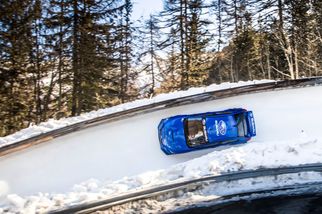Bobsled Run in a Subaru WRX STI 42