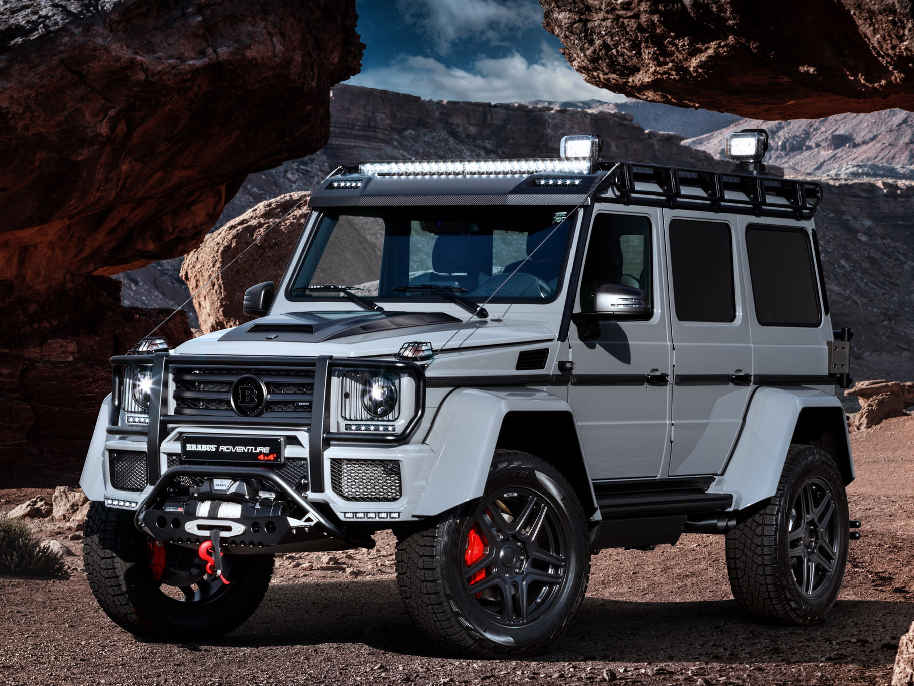 brabus turns mercedes benz g500 4x4 into adventure. Black Bedroom Furniture Sets. Home Design Ideas