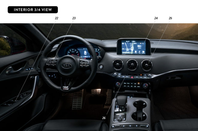 By Design Kia Stinger interior