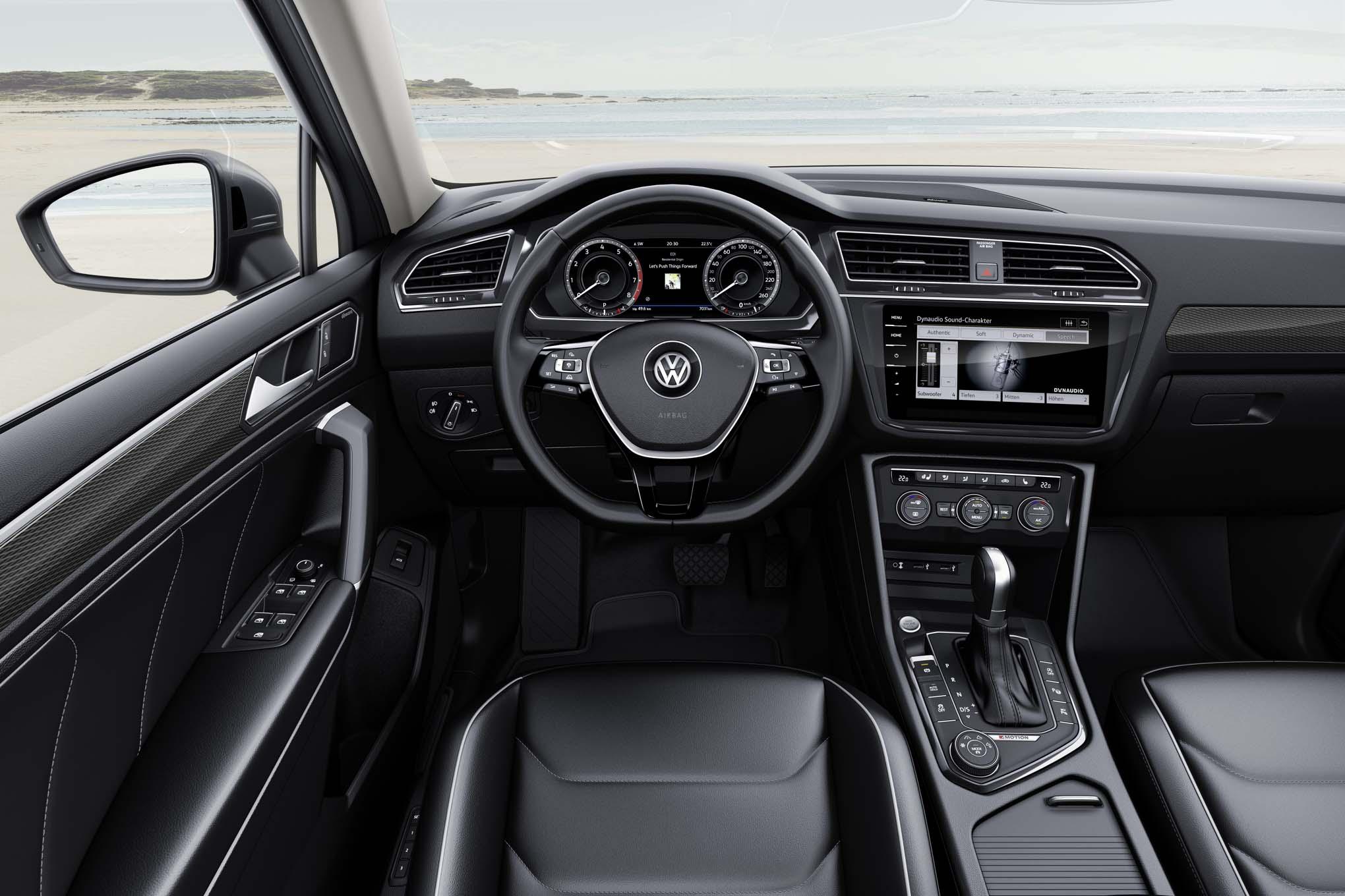 2018 Volkswagen Tiguan Allspace to Debut in Geneva   Automobile ...   {Auto cockpit vw 96}