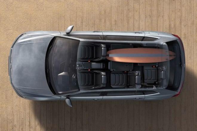 European spec Volkswagen Tiguan Allspace top interior view 02
