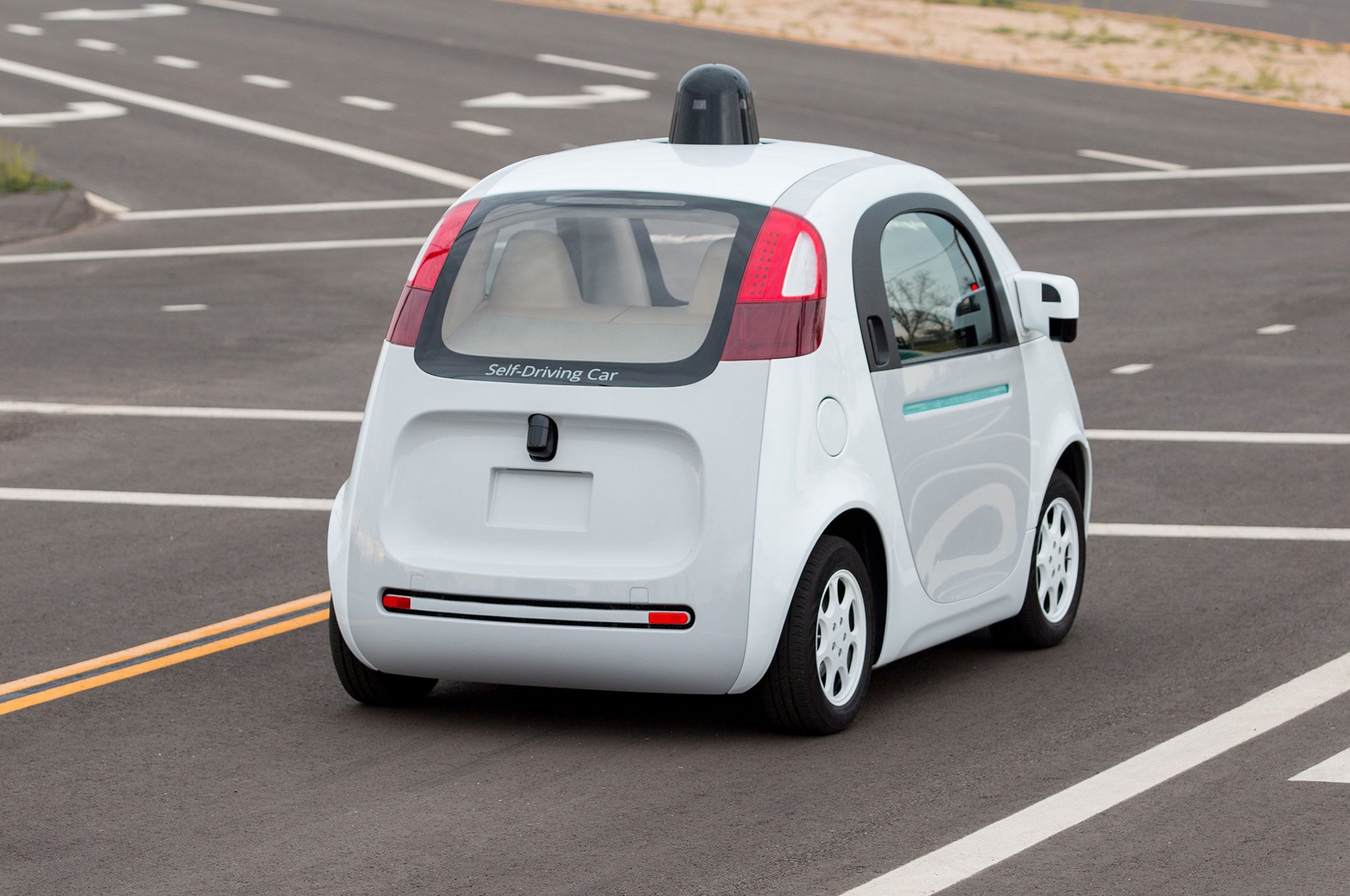 Google Self Driving Car Prototype Rear