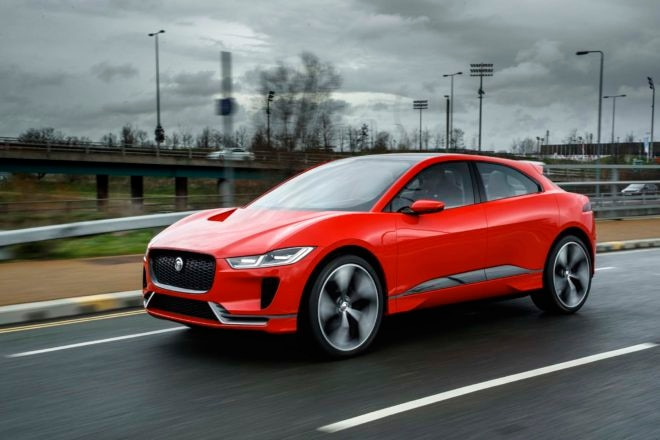 Jaguar I Pace concept front three quarter in motion 06