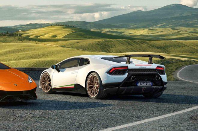 Lamborghini Huracan Performante rear three quarter 02