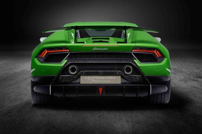 Lamborghini Huracan Performante rear view